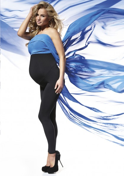 Maternity leggings ANABEL made of insulated fabric and...