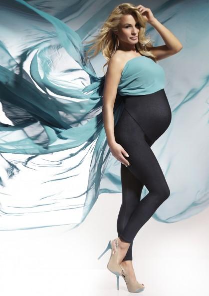 Legginsy ciążowe NADIA z wysokim stanem i jeansowego...