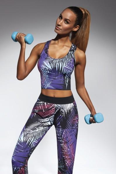 Crop top JAMAICA-TOP 30 sportowy w modny print