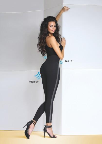 Legginsy damskie LERYN eleganckie z efektem Push-Up & Taille
