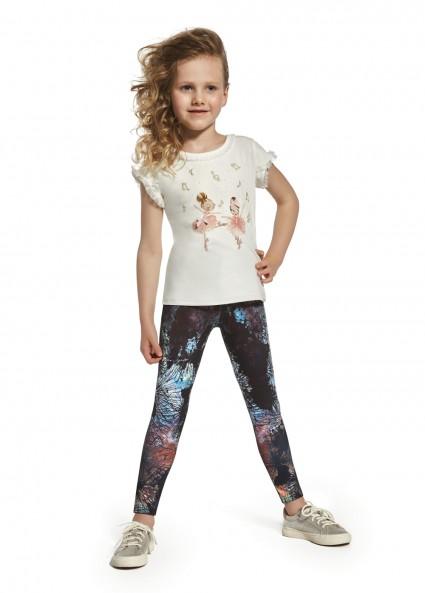 Legginsy dziewczęce SHIMER elastyczne z wygodnym ściągaczem