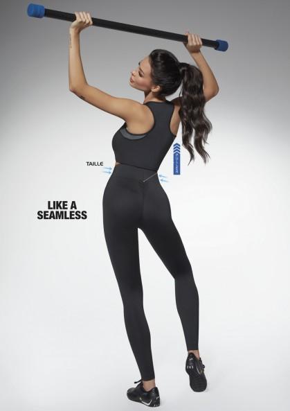 Legginsy sportowe seamless PERFECTBODY z talią osy i...